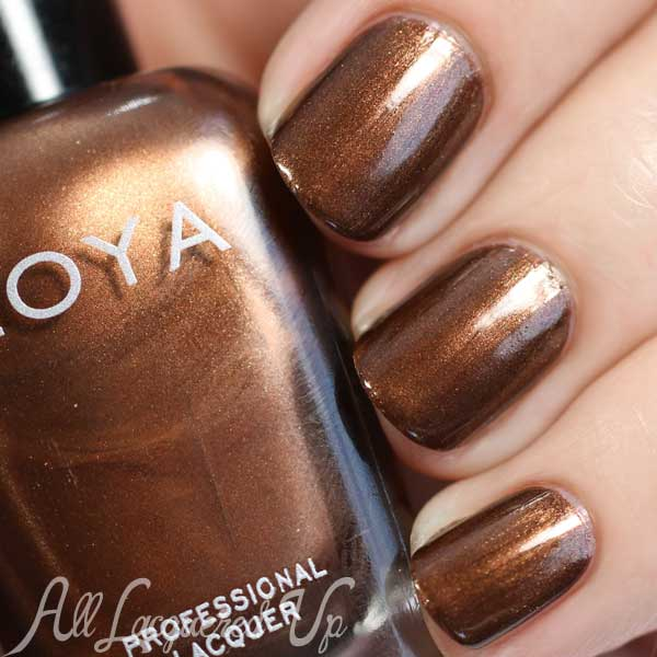 Zoya Cinnamon swatch - Flair Fall 2015