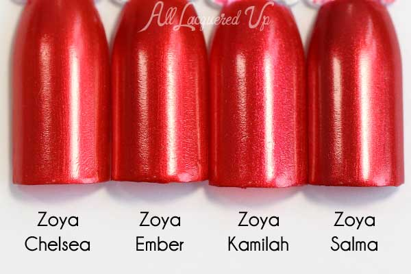 Zoya Ember swatch comparison - Flair Fall 2015