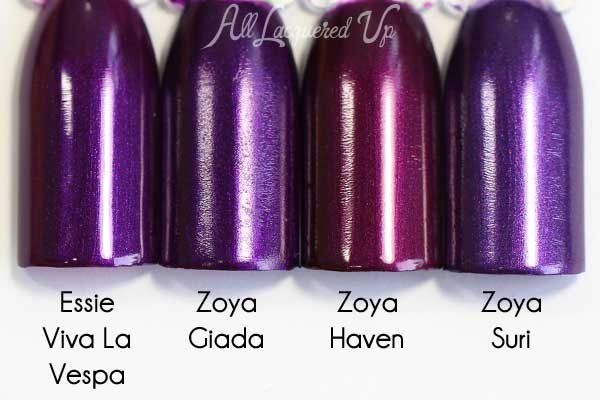 Zoya Giada comparison swatch - Flair Fall 2015