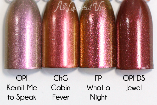 China Glaze Cabin Fever comparison
