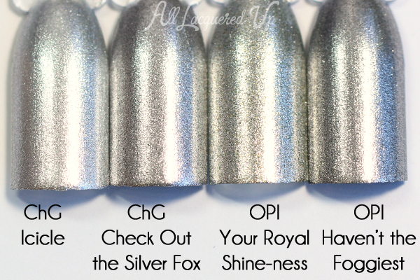 China Glaze Check Out the Silver Fox comparison