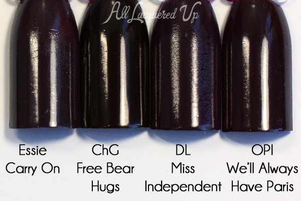 China Glaze Free Bear Hugs comparison