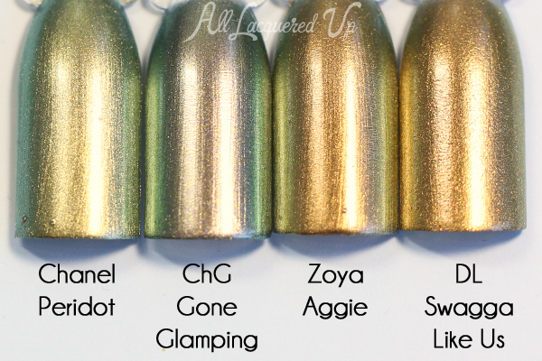 China Glaze Gone Glamping comparison