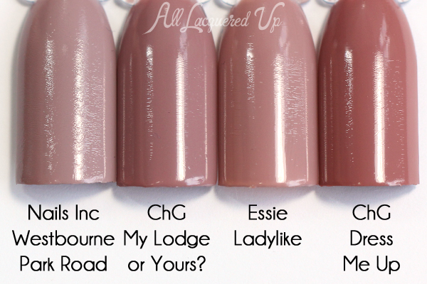 China Glaze My Lodge or Yours? comparison