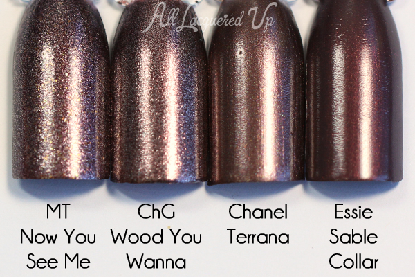 China Glaze Wood You Wanna? comparison