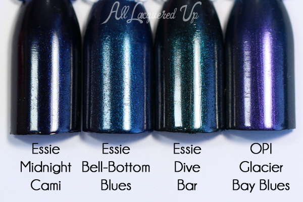 Essie Bell-bottom Blues comparison