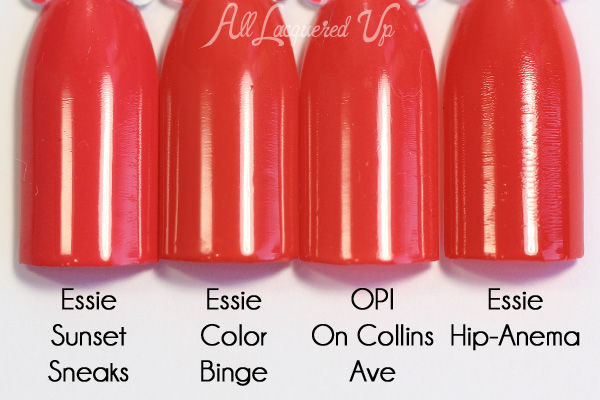 Essie Color Binge comparison