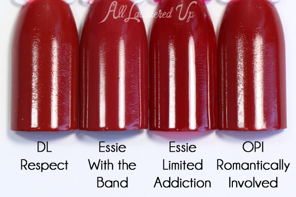 Essie With the Band comparison