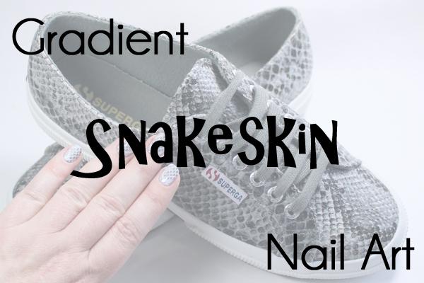 Gradient Snakeskin Nail Art