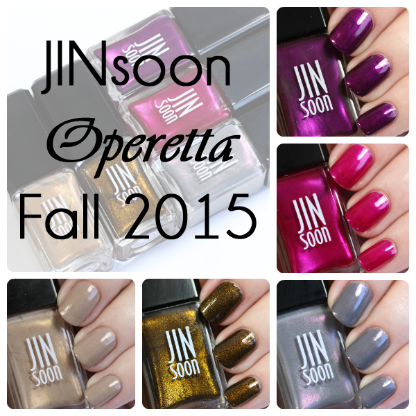 JINsoon Operetta Fall 2015 swatches