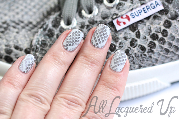 Nail art tutorial ~ glamorous snakeskin youtube.