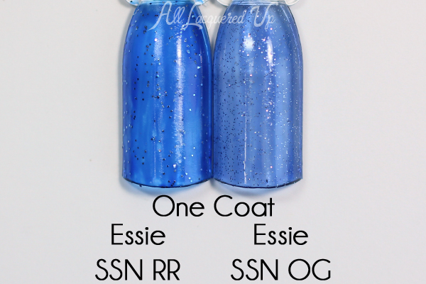 essie Starry Starry Night comparison - One Coat
