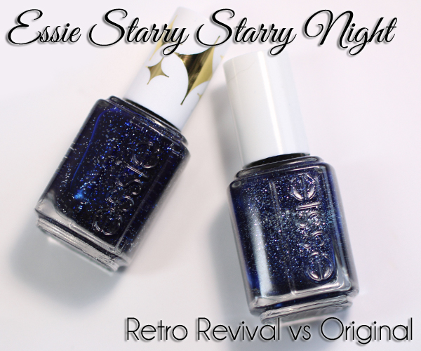 essie Starry Starry Night Retro Revival swatch and comparison