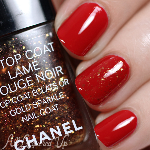Chanel Lamé Rouge Noir Gold Sparkle Top Coat