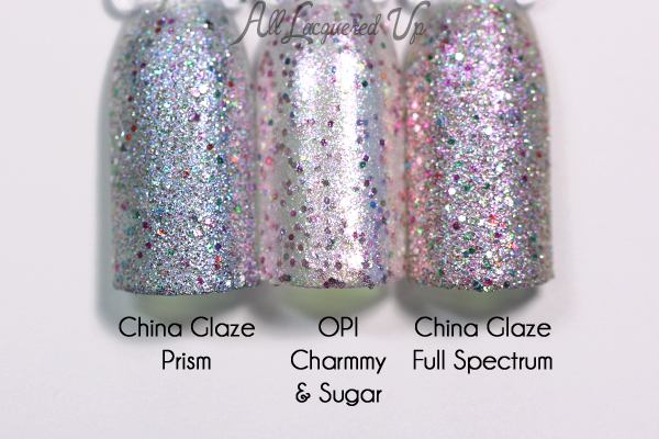 OPI Charmmy & Sugar comparison