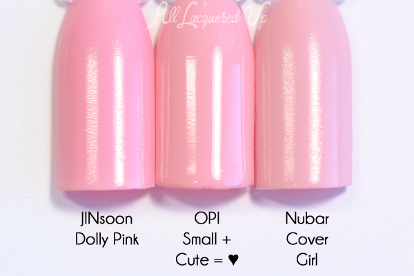 OPI Small+Cute=♥ comparison