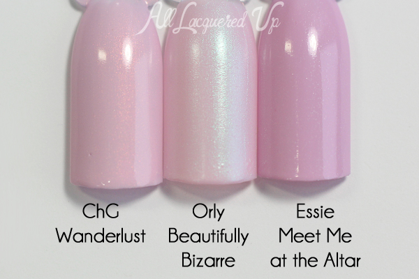 Orly Beautifully Bizarre comparison - Spring 2016 Melrose