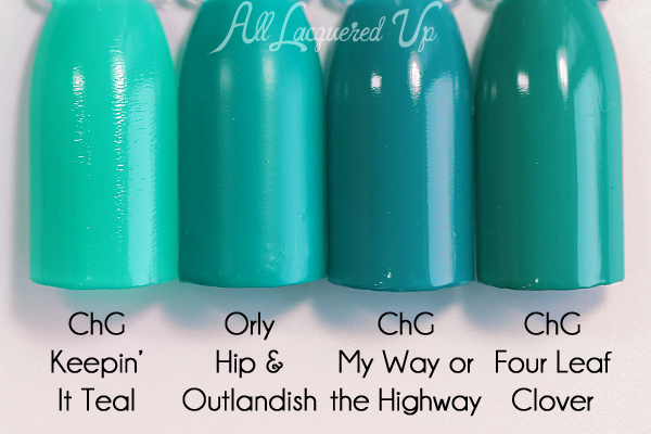 Orly Hip & Outlandish comparison - Spring 2016 Melrose