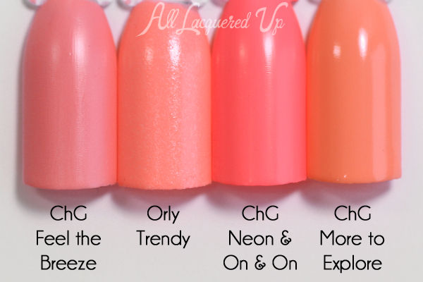 Orly Trendy comparison - Spring 2016 Melrose