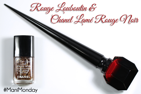 Rouge Louboutin and Chanel Lame Rouge Noir