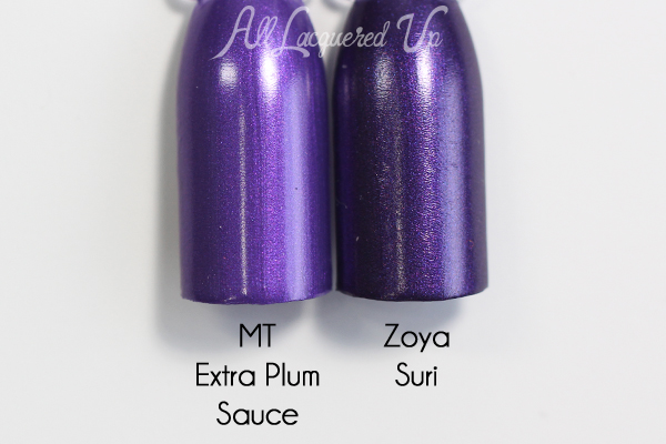 Morgan Taylor Extra Plum Sauce comparison