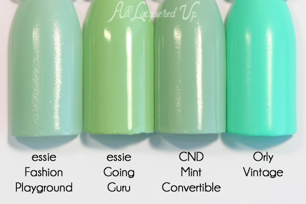 Essie Going Guru comparison - Resort 2016