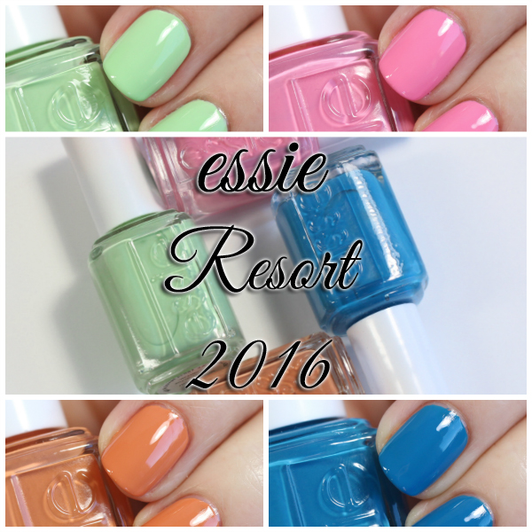 essie resort 2016 collection swatches review and
