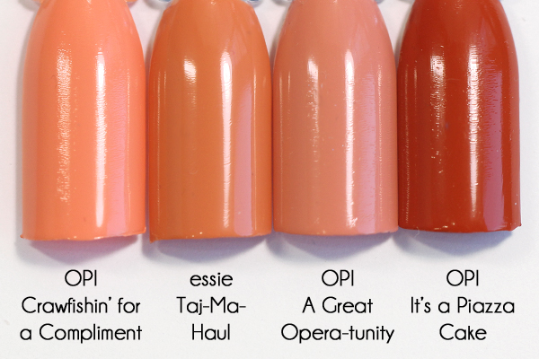 Essie Taj-Ma-Haul comparison - Resort 2016