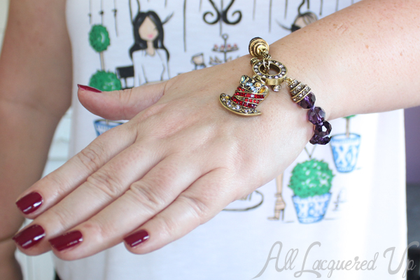 Heidi Daus Crystal Charm  Bracelet
